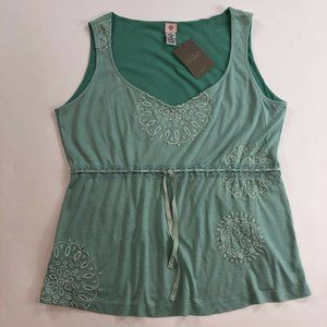 Anthropologie Cross Stitch Heart Womens Blouse L